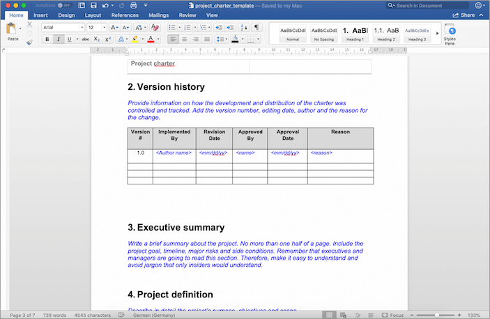 The Project Charter Template I Use With Chapters Explained
