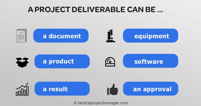 image of typical project deliverables
