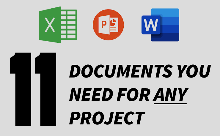 11 Project Documents you need in any project (image)
