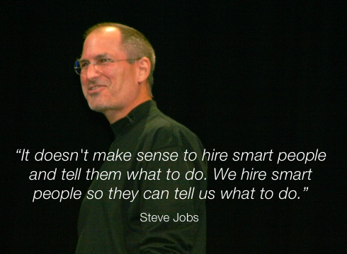 Steve Jobs quote on hiring excellent team members