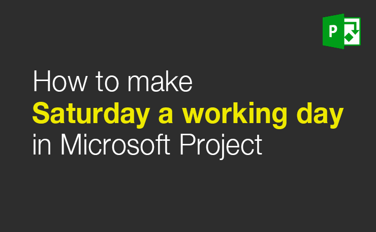 How to make Saturday a working day - Tutorial